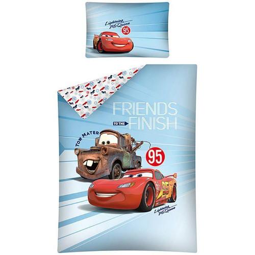 Lenjerie de Pat Cars 100 x 135 cm Albastra