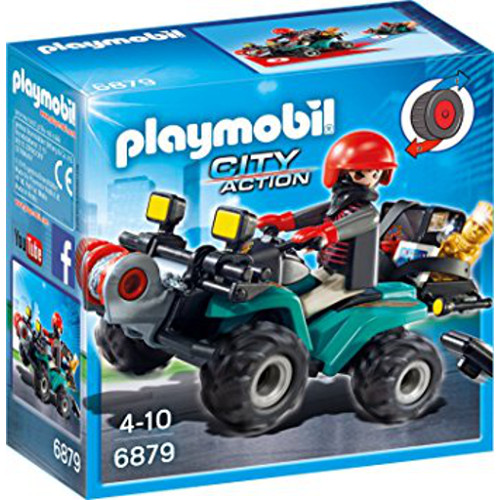 Set Playmobil City Action Police, Hotului cu ATV