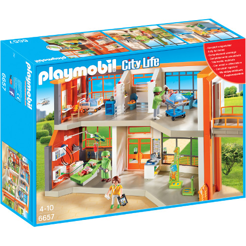 Set Playmobil City Life Kids Clinic, Spital De Copii Echipat