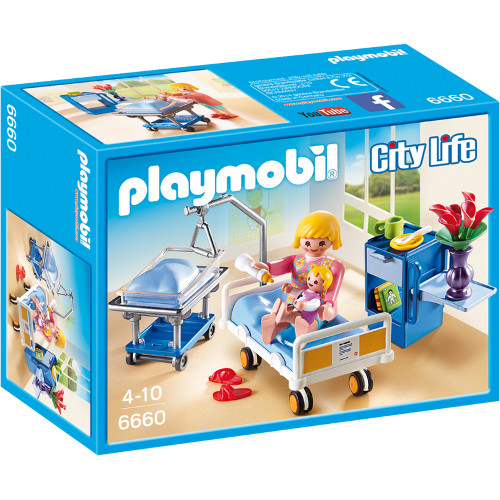 Set Playmobil City Life Kids Clinic, Camera De Maternitate