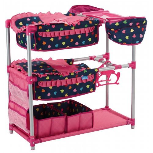 Hauck Patut Dublu Pentru Papusi Twin Doll Station Love Navy
