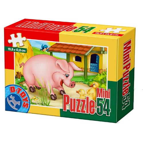 Mini Puzzle 54 Piese Porcusor