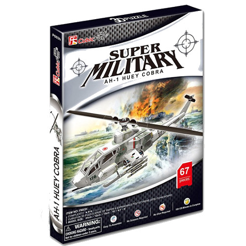 Puzzle 3D Elicopter Huey Cobra AH-1