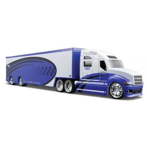 Camion Pro Rodz 1:64 Albastru cu Alb