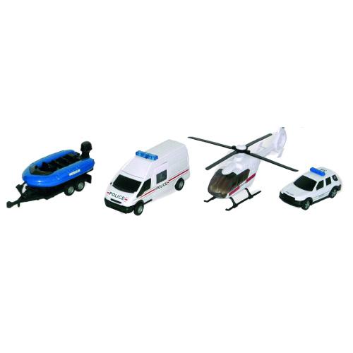 Teama Set 4 Vehicule de Interventie Politie