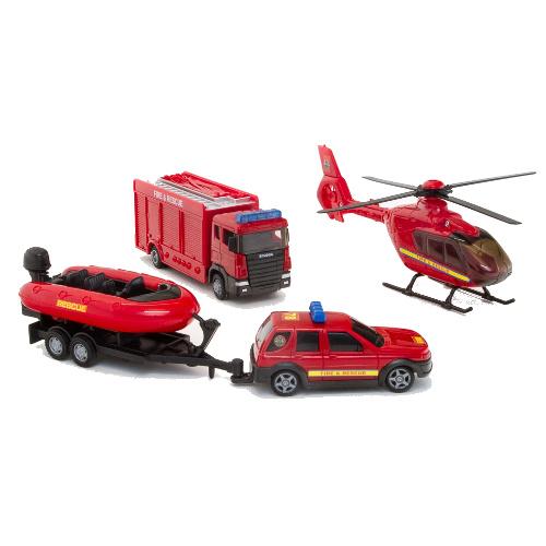 Set 4 Vehicule Interventii Pompieri