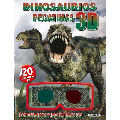 Carte 3D cu Abtibilduri Dinozauri