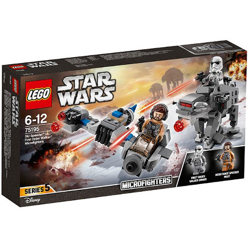 LEGO Star Wars Ski Speeder contra Walker al Ordinului Intai Microfighters 75195