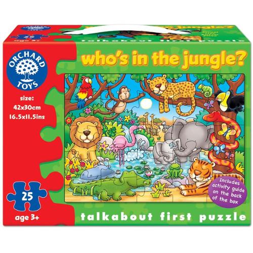Orchard Toys Puzzle cu Activitati Cine este in jungla?