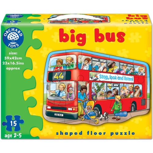 Orchard Toys Puzzle de Podea Autobuzul 15 Piese