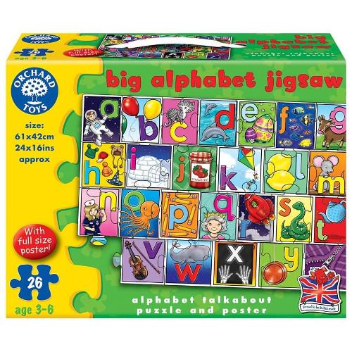 Orchard Toys Puzzle de Podea in Limba Engleza Invata Alfabetul 26 Piese