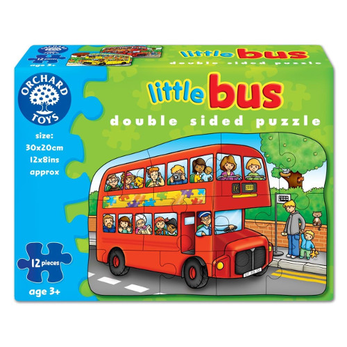 Orchard Toys Puzzle Fata Verso Autobuz 12 piese