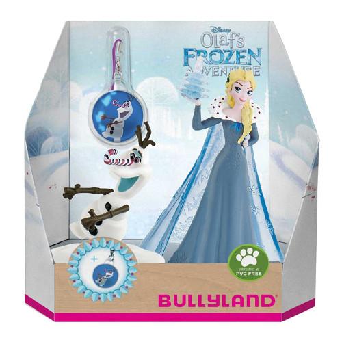 Bullyland Set Figurine Elsa si Olaf cu Medalion – Olafs Frozen Adventure