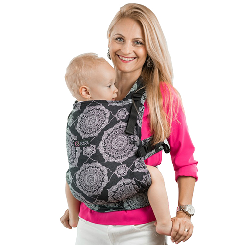 Marsupiu Toddler Organic Kaleidoscopix Black Denim