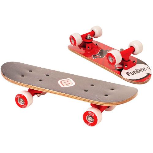 DArpeje Mini Skateboard Funbee 43 cm Rosu