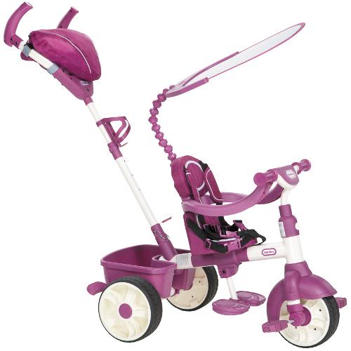 Tricicleta 4 in 1 Sport Roz cu Alb thumbnail