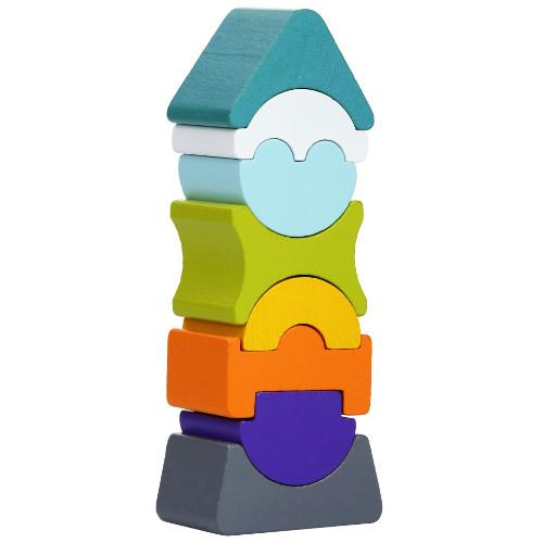 Cubika Set Constructii Turnul Inalt 8 Piese