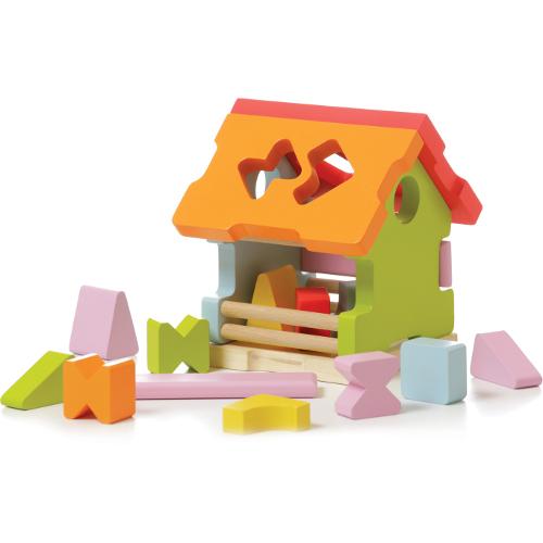 Cubika Sortator din Lemn Casuta din Poveste