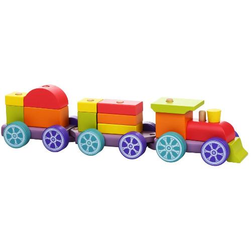 Set Constructii Trenuletul Rainbow Express