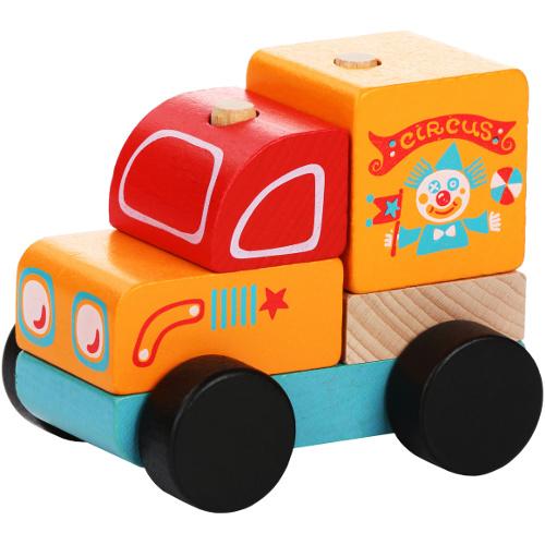 Masinuta din Lemn Circus Car