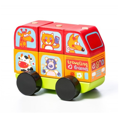 Masinuta din Lemn Mini Bus