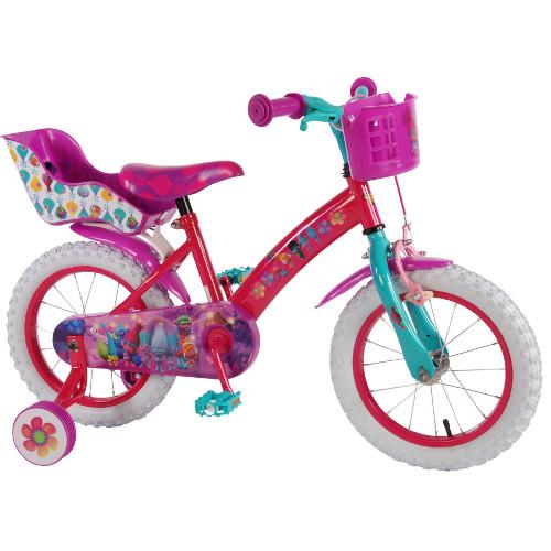 Bicicleta cu Roti Ajutatoare Trolls 16 inch