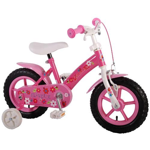 Volare Bicicleta cu Roti Ajutatoare Flowerie 12 inch