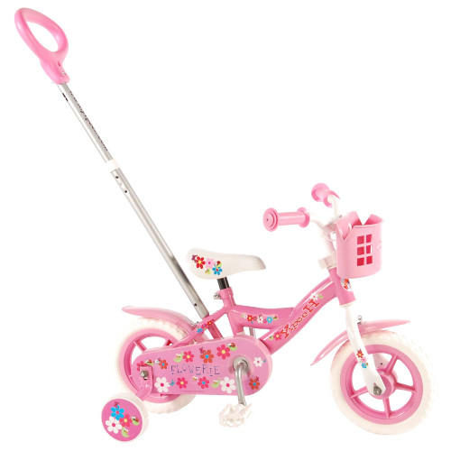 Bicicleta cu Maner si Roti Ajutatoare Yipeeh Flowerie 10 inch