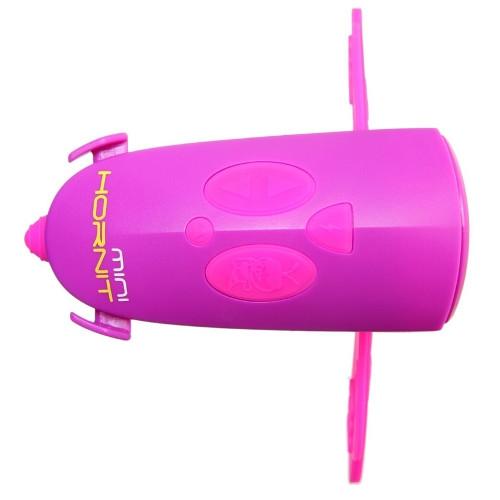 Claxon Mini Hornit cu Lumina Roz Mov thumbnail