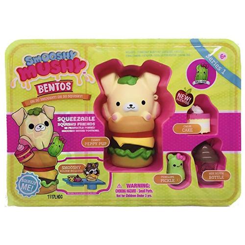Jucarie Smooshy Mushy Cutiuta pentru Gustare cu Hamburger