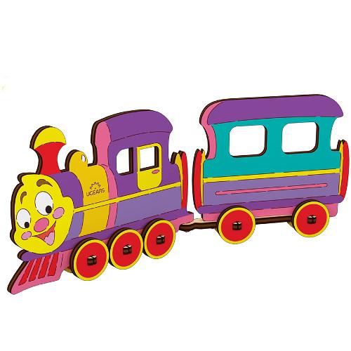 Puzzle de Colorat Locomotiva