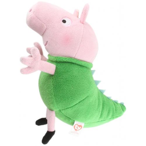 Ty Plus Licenta Peppa Pig George In Costum de Dinozaur 15 cm