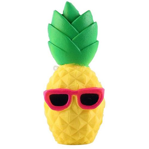 Jucarie Squishy Ananas cu Ochelari