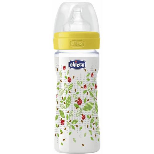 Chicco Biberon WellBeing PP Unisex cu Tetina Silicon 250 ml