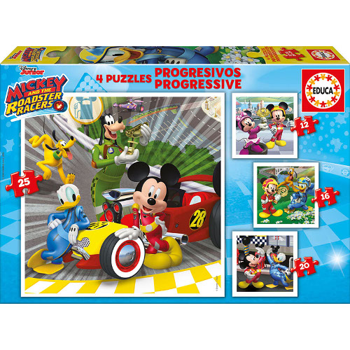 Puzzle Progresiv Mickey and the Roadster Racers 73 Piese