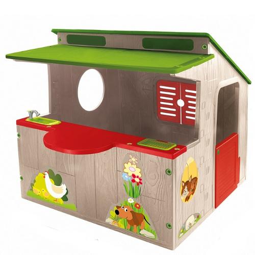 Casuta de Joaca Tip Stand cu Abtibilduri FarmHouse, 118 x 139 x 120 cm