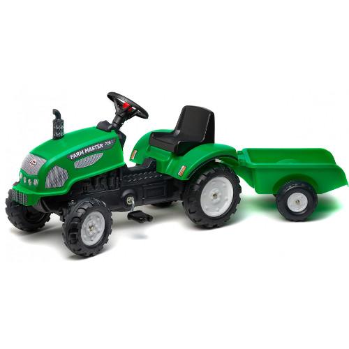 Tractor cu Pedale si Remorca Farm Master 720i Verde