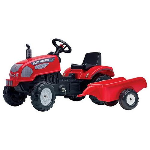 Tractor cu Pedale si Remorca Farm Master 720i Rosu