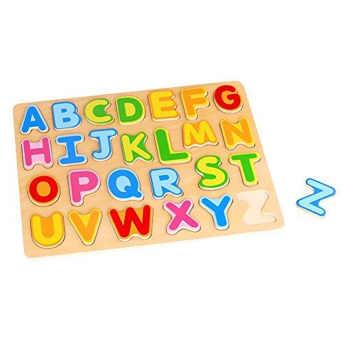 Puzzle din Lemn Litere