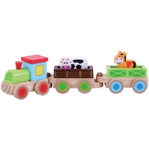 Trenulet din Lemn cu Animale thumbnail