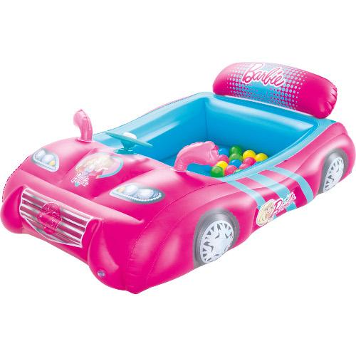 Masinuta de Curse Gonflabila Barbie cu 25 de Bile thumbnail