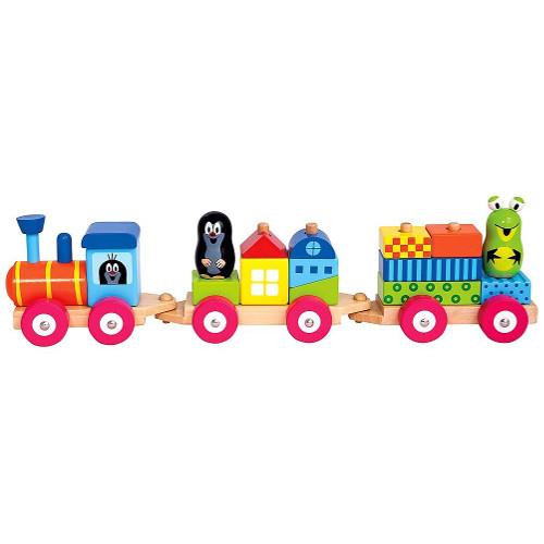 Trenulet din Lemn cu Casute si Figurine Little Mole thumbnail