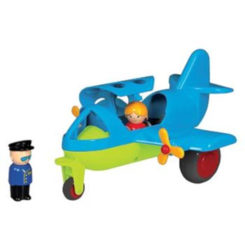 Avion Culori Vesele cu 2 Figurine Jumbo