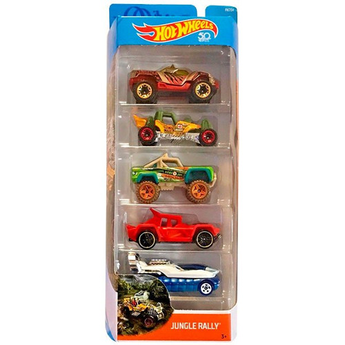 Mattel Hot Wheels – Set 5 Masinute Jungle Rally