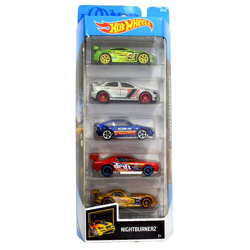 Mattel Hot Wheels – Set 5 Masinute Nightburnerz