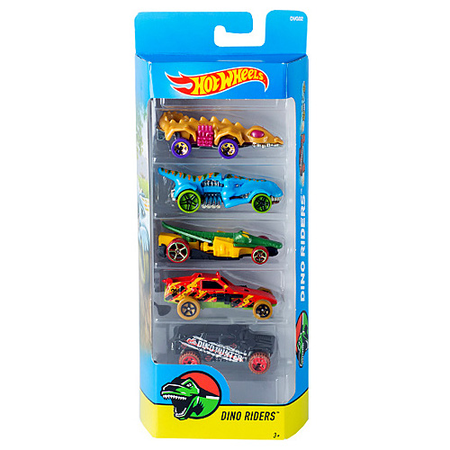 Mattel Hot Wheels – Set 5 Masinute Dino Riders