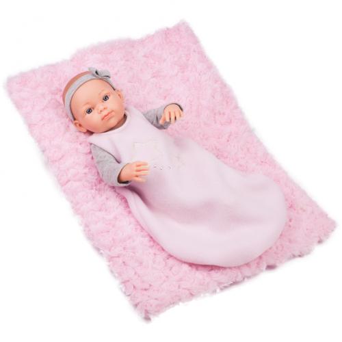 Paola Reina Papusa Bebelus in Sac De Dormit cu Paturica MINI PIKOLIN