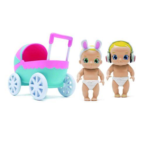 Set de Joaca Baby Secrets cu Cadita, Carucior si 3 Figurine Bebelus