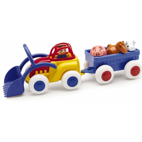 Tractor cu Remorca si Animalute Midi