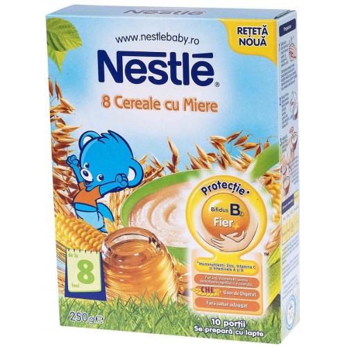 Nestle 8 Cereale cu Miere, 250 g